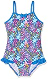 DIMO-TEX Sun Baby-Mädchen Einteiler Badeanzug UV-Schutz 50, Mehrfarbig (AOP Blumen), 98