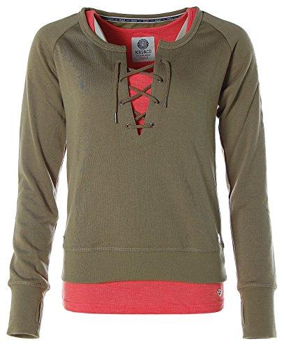 KangaROOS Damen Sweatshirt + Tanktop (2tlg. Set) Khaki-Hummer
