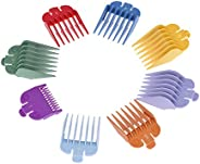 Anself 8 Sizes Colorful Hair Clipper Limit Comb Guide Attachment Set for Electric Hair Clipper Shaver Haircut Accessory