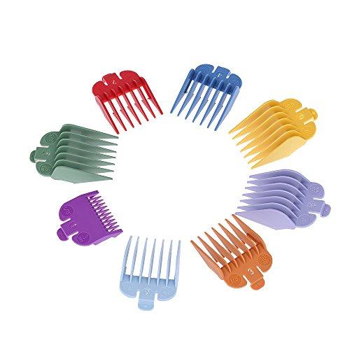 Rasierer-anlage (Festnight 8 Größen Bunte Haarschneidemaschine Limit Kamm Guide Anlage Set für Elektrische Haarschneidemaschine Rasierer Haarschnitt Zubehör)