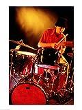 Männlich Schlagzeuger spielt Schlagzeug Poster Drucken (45,72 x 60,96 cm)