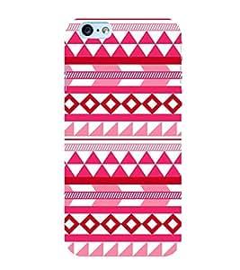 PrintVisa Triangle Square Pattern 3D Hard Polycarbonate Designer Back Case Cover for Apple iPhone 6S