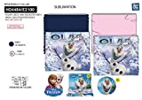 Disney Die Eiskönigin Multifunktionstuch, Schlauchschal, Bikertuch, Schal, Kopftuch, Stirnband, Bandana, Skimask mit Polar-Fleece Rosa
