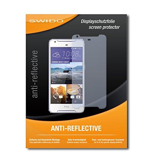 SWIDO Schutzfolie für HTC Desire 628 Dual SIM [2 Stück] Anti-Reflex MATT Entspiegelnd, Hoher Härtegrad, Schutz vor Kratzer/Bildschirmschutz, Bildschirmschutzfolie, Panzerglas-Folie