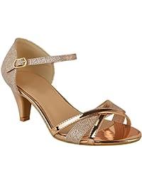 d56aa7289b7e Fashion Thirsty Sandales à Petits Talons - à Bride Bouts Ouverts -  Mariage Fête