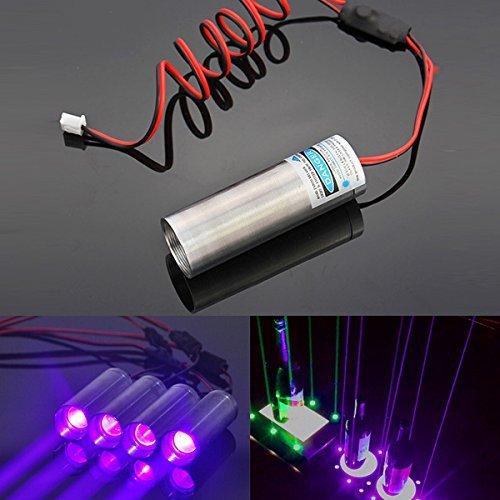 Preisvergleich Produktbild Generic 405nm 250mW Dick Beam violett Laser-Modul Projektor für Bar Stage Ausstellung Ständer Lighti