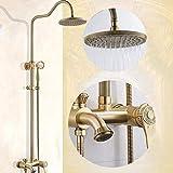 GZZ Duschkopf Dusche Sets mit Regen Herbst Duschkopf und Handheld Set Wand Duschkabine Combo Badezimmer Luxus Regen Mixer Dusche Combo Set Einfach zu Reinigen und zu installieren