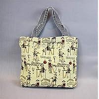 Preisvergleich für Yudanwin Leinwand-Lunch-Tasche Student Lunch Bag Cartoon Lunch Box Tasche Picknick Tasche (Siebzehnten)
