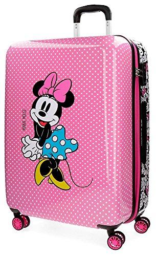 Disney Minnie Equipaje infantil, 69 cm, 81 litros, Rosa