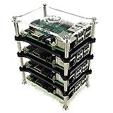 Corkea Raspberry Pi 3 Boîtier avec Stack for Raspberry Pi 3, Pi2, B+ and A+ (4 Layer)