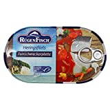 2er Pack Rügen Fisch Feinschmeckerplatte (2 x 200 g), Heringsfilets mit feinem Gemüse in delikater Sauce
