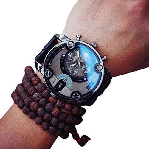 Orologio da uomo donna moda quarzo orologi uomo luxury brand cinturino in pelle impermeabile uomo orologio da polso uomo orologi uomo morwind (nero)
