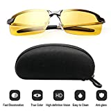 KAISHANE KAISHANE Night Driving Glasses for UV400 Eyes Protection Ultra Light HD Night