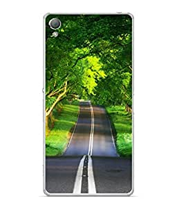 PrintVisa Designer Back Case Cover for Sony Xperia X :: Sony Xperia X Dual F5122 (Long Lonely Road Trees Lined Road)