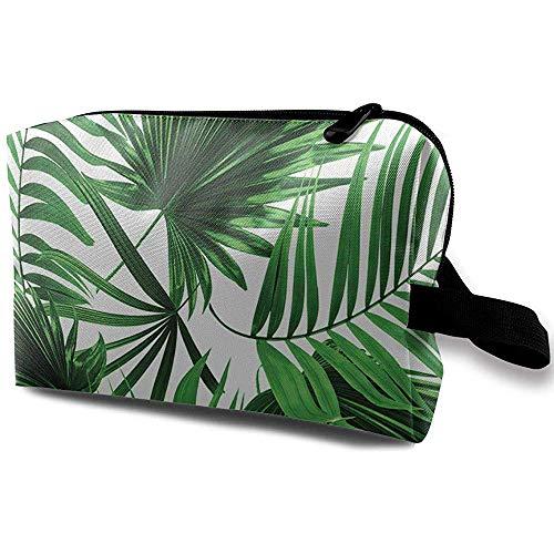 Reise-Kosmetiktasche tragbare Handtasche Palm Leaf Kulturbeutel kleine Make-up Taschen Fall Veranstalter -