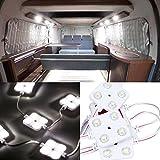 Favoto Car Interior Lights 40LED, Van Interior Light 12V Kit LED Waterproof Universal Project Lens Lighting Lamp Work Light Ceiling Light for Truck Car Kit Vehicle, Motorhome, Caravan (White)