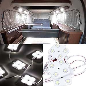 Favoto Kit LED Interni per Auto con 40 Lampadine LED 12V Luce di Stringa per Camion Barche Roulotte Rimorchi Camion Automobili