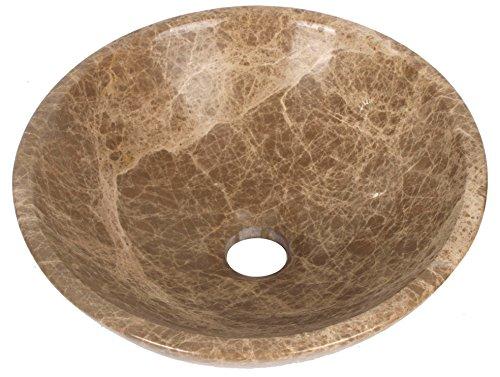 Emperador Braun Marmor (Chinesisch Hell Braun Emperador Stein Marmor Becken Waschtisch Bad Zimmer 30cm x 11cm (B0053))