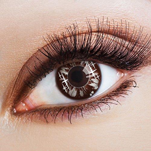 aricona Kontaktlinsen Farblinsen  N°563 - Farbige 12-Monats Kontaktlinsen Paar ohne Stärke, weich und angenehm zu tragen, Wassergehalt: 42%, Wide Universe, ()