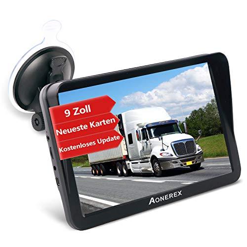 Oferta de Aonerex - Navegador GPS para coche, camión, coche, 9 pulgadas, dispositivo de navegación con parasol, guía de voz, asistente de carril de Europa, mapas de por vida