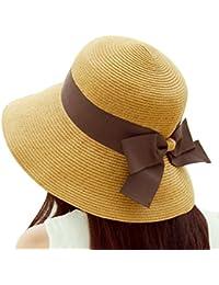 TININNA Elegante Bowknot Floppy Estate Spiaggia Cappello di Paglia Cappello  da Sole Berretto Sole Visiera Cappello 2ea944de0c5b