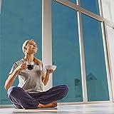 selbstklebende Sonnenschutzfolie (99% UV-block) UV-Blocker Folie für Fenster, Hitzeschutz (blockt 99% der UV-Strahlen), UV-Schutzfolie, Wärmeschutz, blau silber, Fancy-fix,76cm x 300cm