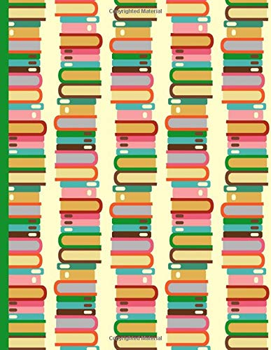 Stack of Books Because Readers are Leaders : Wide Ruled Notebook -