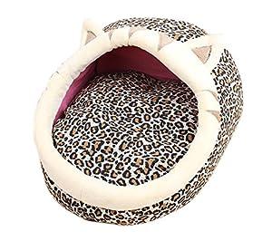 VLUNT Nid de Couchage Chiot Lit Chaud pour Chien et Chat Maison Luxe Chat Nid Chiens Paniers pour Petit Animal en Automne Hiver pour Lapin Hamster Ecureuil Chinchilla Cochon