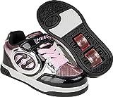 Heelys Unisex-Kinder X2 Fitnessschuhe, Mehrfarbig (Black/Silver / Pink/Chrome 000), 30 EU