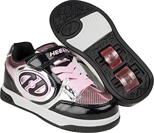 Heelys X2, Scarpe da Fitness Unisex-Bambini, Multicolore (Black/Silver/Pink/Chrome 000), 35 EU