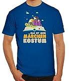 ShirtStreet Fasching Karneval Herren T-Shirt mit Das ist Mein Märchen Kostüm Motiv, Größe: M,Royal Blau