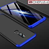 #7: Premium Back Case For OnePlus 6 – WOW Imagine 3 in 1 Double Dip Case [ Anti Slip ] Super Slim [Hard] Hybrid PC All Angle Protection Lightweight Matte Hard Back Case Cover For 1+6 One Plus OnePlus 6 - Black with Blue