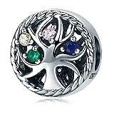 DUBU 925Sterling Silber Baum des Lebens CZ Kristall Spacer Perlen Charm für Armbänder Schmuck Geschenke für Frauen Mädchen