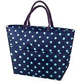 Impresión de bolsas de almuerzo, Arricastle Oxford tela papel de aluminio aislados zip Cooler bolsa portátil para llevar película de aluminio paquete más fresco bolsa de almuerzo grandes olas azul oscuro paquete
