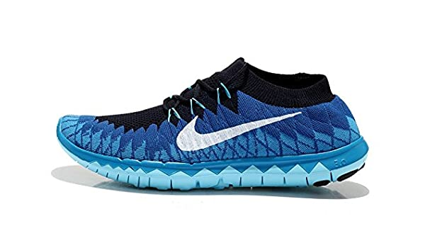 a57f17793d4ca Nike 3.0 Flyknit Blue Running Shoes for Mens  Buy Online at Low Prices in  India - Amazon.in
