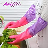 Aaiffel Reusable Rubber Latex Unisex Multipurpose Household Gloves,Free Size