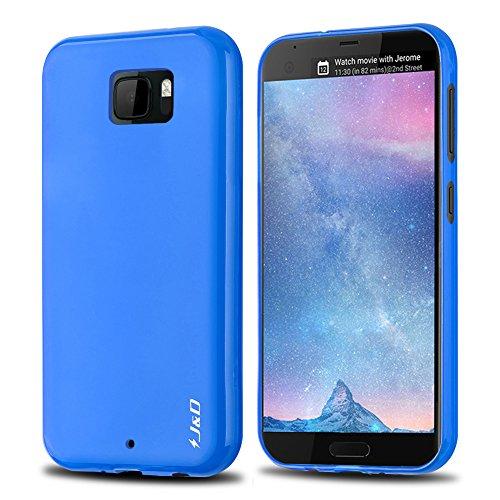 HTC U Ultra Hülle, J&D [Leichtgewichtig] [Fallschutz] Stoßfest TPU Slim Hülle für HTC U Ultra - Blau