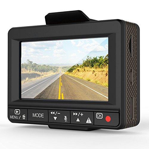 Esky Ultra 1080p HD Car DVR Dual Dashcam with GPS Logger, G-sensor and 64GB microSD Capacity