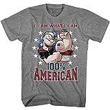 American Classics Popeye ñame americano camiseta para hombre Grande Gris