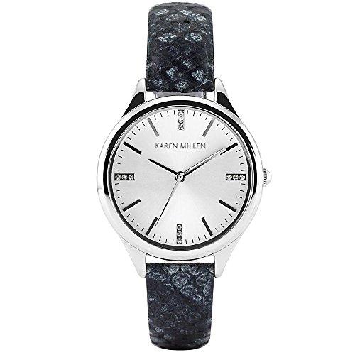 Karen Millen de Piel de Serpiente Efecto Piel Reloj con Detalle de Swarovski