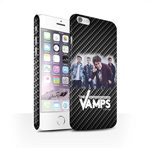 Offiziell The Vamps Hülle / Matte Snap-On Case für Apple iPhone 6 / Pack 6pcs Muster / The Vamps Fotoshoot Kollektion Kohlenstoff