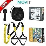 MOVIT Suspension Trainer - Cintura da allenamento in sospensione ideale per crossfit fitness e bodybuilding - Kit Cinghia/Supporto di fissaggio Lunghezza Regolabile - Kit all inclusive
