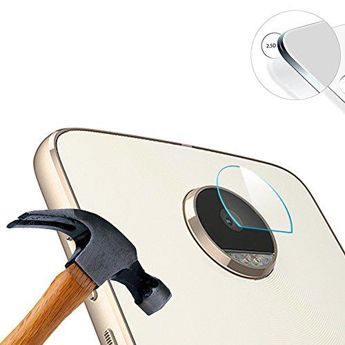 Lusee 2 x Pack Kamera Schutzfolie Linsenschutz für Lenovo Moto Z Play 4G 5.5 Zoll Echtglas Tempered Glass Bildschirm Schutz Folie
