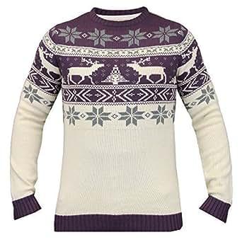 herren weihnachtspullover strickpullover soul star schneeflocke renntier pullover neu sand. Black Bedroom Furniture Sets. Home Design Ideas
