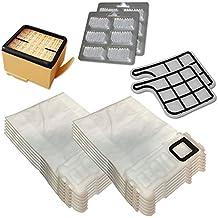 Kit de 12bolsas (Microfibra) + 12Ambientadores + Filtro HEPA/EPA + 2Filtros de motor para aspiradora Vorwerk Folletto Kobold VK 135, 136, VK135, VK136