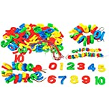 ShopMeFast Numbers To Threading Blocks Educational Toy For Kids (Multicolor)