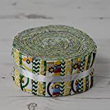 Tessuto Freedom Construction Green Jelly rotoli 40Strippers strisce 100% cotone cucito patchwork quilting Craft Fabric Bundle ogni striscia 6,3cm larghezza x 106,7cm lunghezza quilting Craft Sewing patchwork Fabric Bundle Made in the UK brand new in presentazione Bundle
