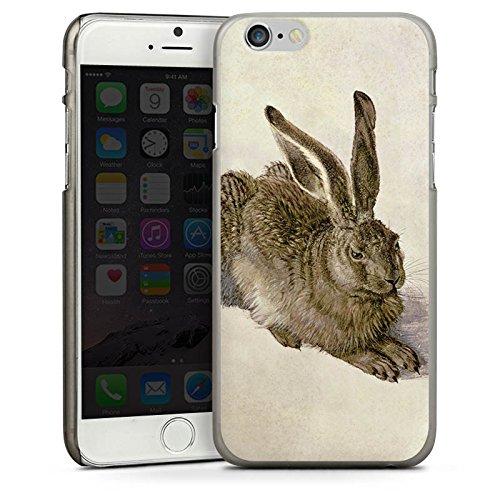 Apple iPhone 4 Housse Étui Silicone Coque Protection Lapin Lapin Levraut CasDur anthracite clair