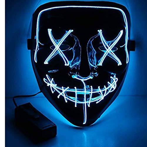 Coole Halloween Partys - Ikakabek LED Maske Halloween Gruselmaske mit