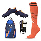 #2: Nivia Football Kit Combo ( Dominator Shoe, Shin Guard, Stocking & Shoe Bag)